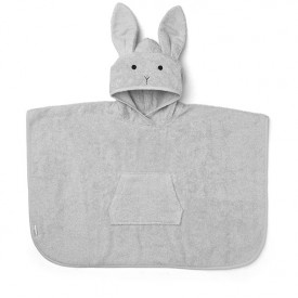 Kids Bath Poncho Rabbit - 4-6 years - Grey