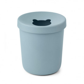 Evelina Trash Bin - Sea Blue