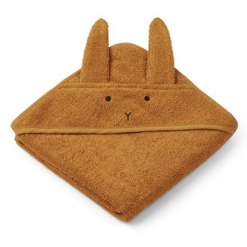 Baby Towel Hooded Rabbit - Mustard