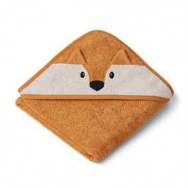 Baby Towel Hooded Fox - Mustard