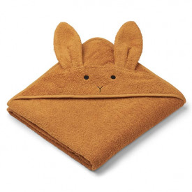 Kids Towel Hooded Rabbit - Mustard