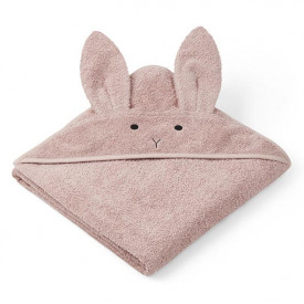 Kids Towel Hooded Rabbit - Rose