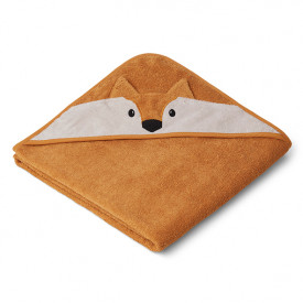 Kids Towel Hooded Fox - Mustard