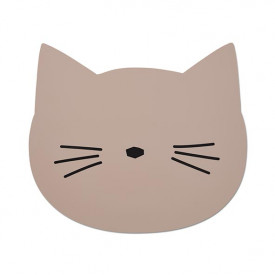 Silicone Placemat Cat - Rose