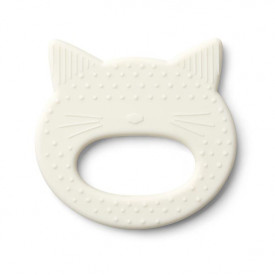 Silicone Teether Cat - Crème