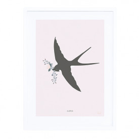 Framed Art Print The Swallow (30x40cm)