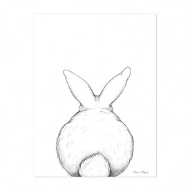 Art Print Bunny From The Back (30x40cm)