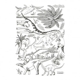 Wallstickers Dinosaurs and Plants (A3)