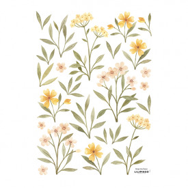 Wallstickers Orange and Yellow Flowers (A3)