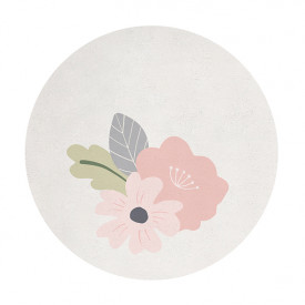 Rond Rug - Flowers and Leaves