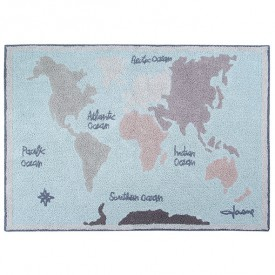 Back to School Rug 140 x 200 cm - Vintage Map