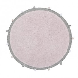 Bubbly Rug 120cm - Soft Pink