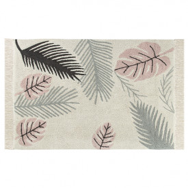 Plants Rug 140 x 200cm - Tropical Pink