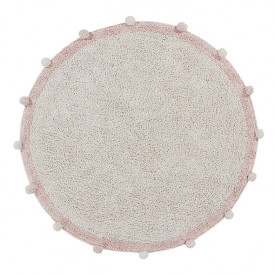 Bubbly Rug 120cm - Natural / Vintage Nude