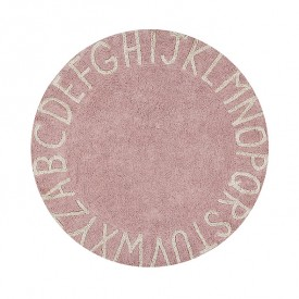 Round ABC Rug 150 cm - Vintage nude / Natural
