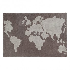 Map Rug 140 x 200cm - World Map