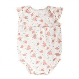 Adonis Bodysuit - Off-White/Flowers