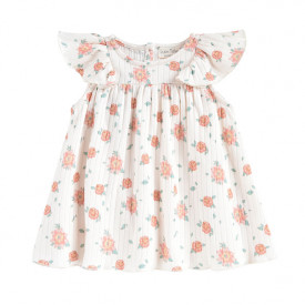 Amita Dress - Off-White/Flowers