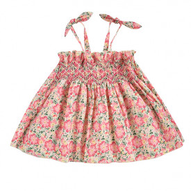 Marceline Dress - Pink Meadow