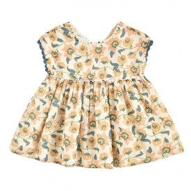 Tapalpa Dress - Cream Flowers