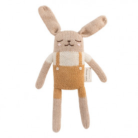 Bunny Soft Toy - Mustard Overalls