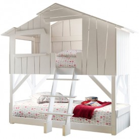 Treehouse Bunk Bed - Lacquered Multicolour Mathy by Bols