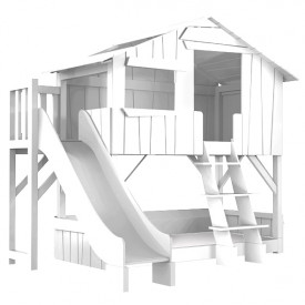 Treehouse Bunk Bed w/ Slide & Deck
