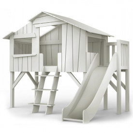 Treehouse Bed w/ Slide & Deck