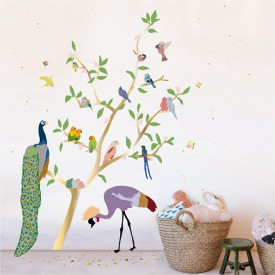 Giant Sticker - With the Birds