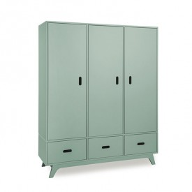 Wardrobe 3 Doors - Green