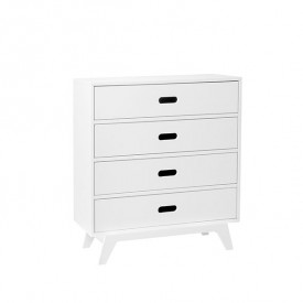 Dresser with 4 Drawers - White