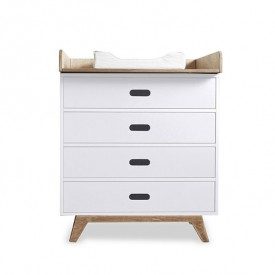 Dresser with 4 Drawers - Two Colors to Choose