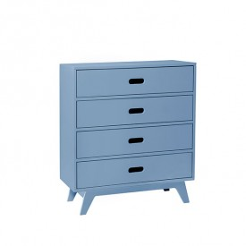 Dresser with 4 Drawers - Blue