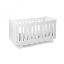 Convertible Baby Bed 70 x 140 cm with Conversion Kit - White