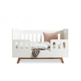 Convertible Baby Bed 70x140 cm with Conversion Kit - Colors to choose