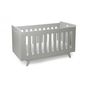 Convertible Baby Bed 70 x 140 cm with Conversion Kit - Light Grey
