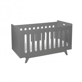 Convertible Baby Bed 70 x 140 cm with Conversion Kit - Dark Grey