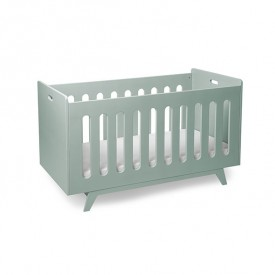 Convertible Baby Bed 70 x 140 cm with Conversion Kit - Green