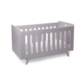 Convertible Baby Bed 70 x 140 cm with Conversion Kit - Lilac