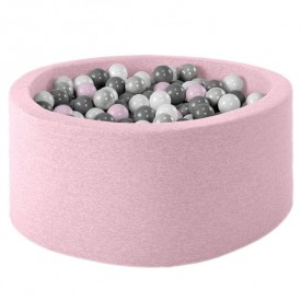 Ball Pool Round Pink L - Baby Pink - incl. 400 balls