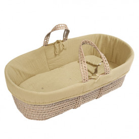 Moses Basket + Bed Linen - Mellow Yellow