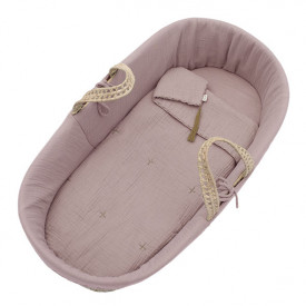 Moses Basket Bed Linen - Dusty Pink