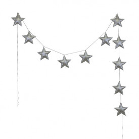 Mini Star Garland - Silver