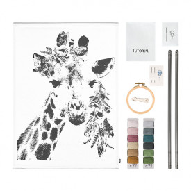 Crazy Giraffe Kit Canvas