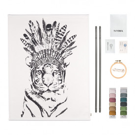 Crazy Tiger Kit Canvas