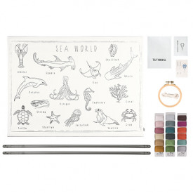School Poster Kit Sea World Canvas