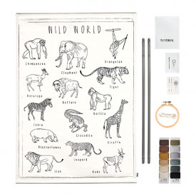 School Poster Kit Wild Animals Canvas