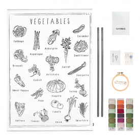 School Poster Kit Vegetables Canvas