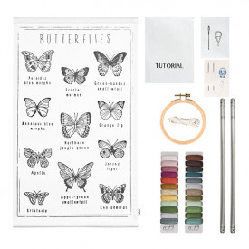 School Poster Kit Butterflies Canvas