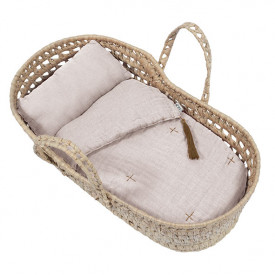 Doll Basket + Bed Linen - Powder